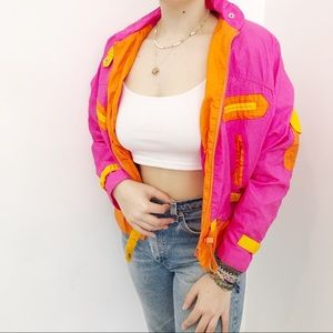 Vintage 1980s Pink Ski Jacket